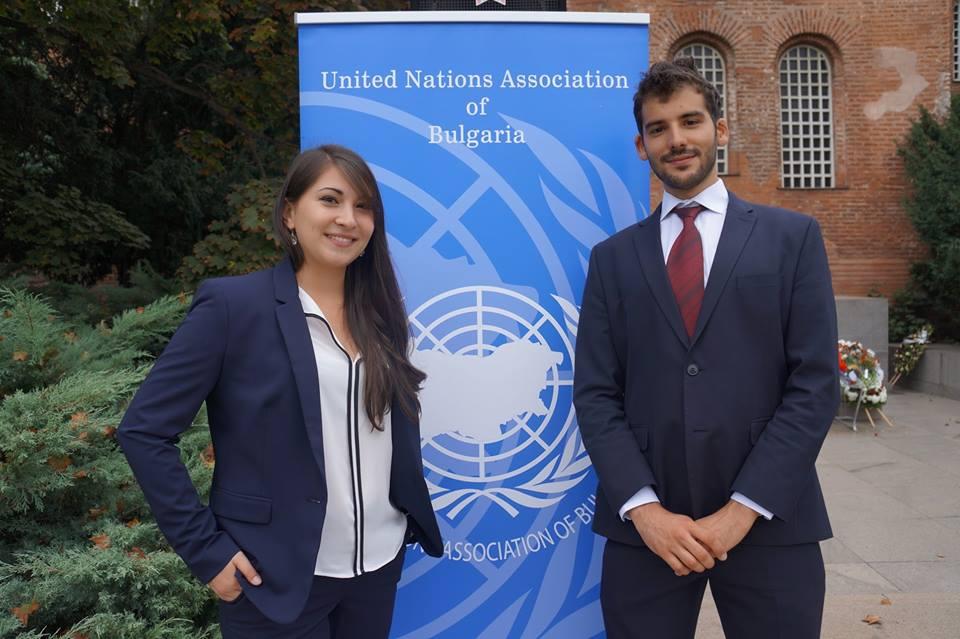 Българските младежки делегати 2015-2016: Анина Йовкова и Димитър Димитров